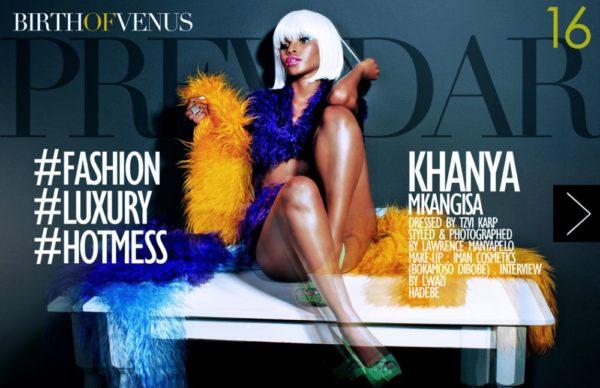 Khanya Mkangisa Previdar Editorial Shoot - BellaNaija - January2014012