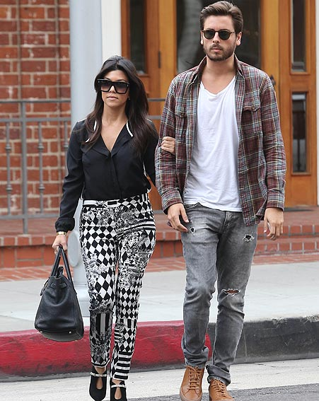 Kourtney Kardashian & Scott Disick - January 2014 - BellaNaija
