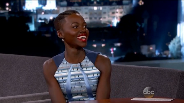 Lupita Nyong'o on Jimmy Kimmel Live - January 2014 - BellaNaija
