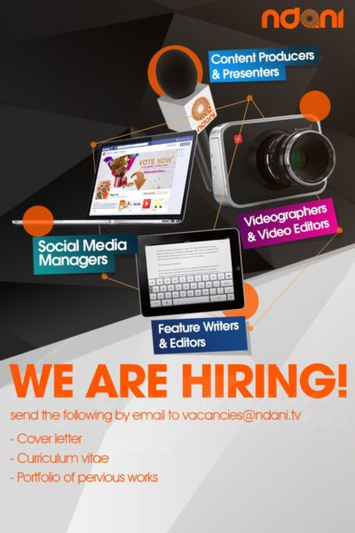 Ndani TV Job Hiring - BellaNaija - January 2014