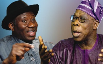 President Goodluck Ebele Jonathan & Olusegun Obasanjo - January 2014 - BellaNaija