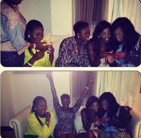 Toke Makinwa & Maje Ayida's Dinner Party - January 2014 - BellaNaija 05