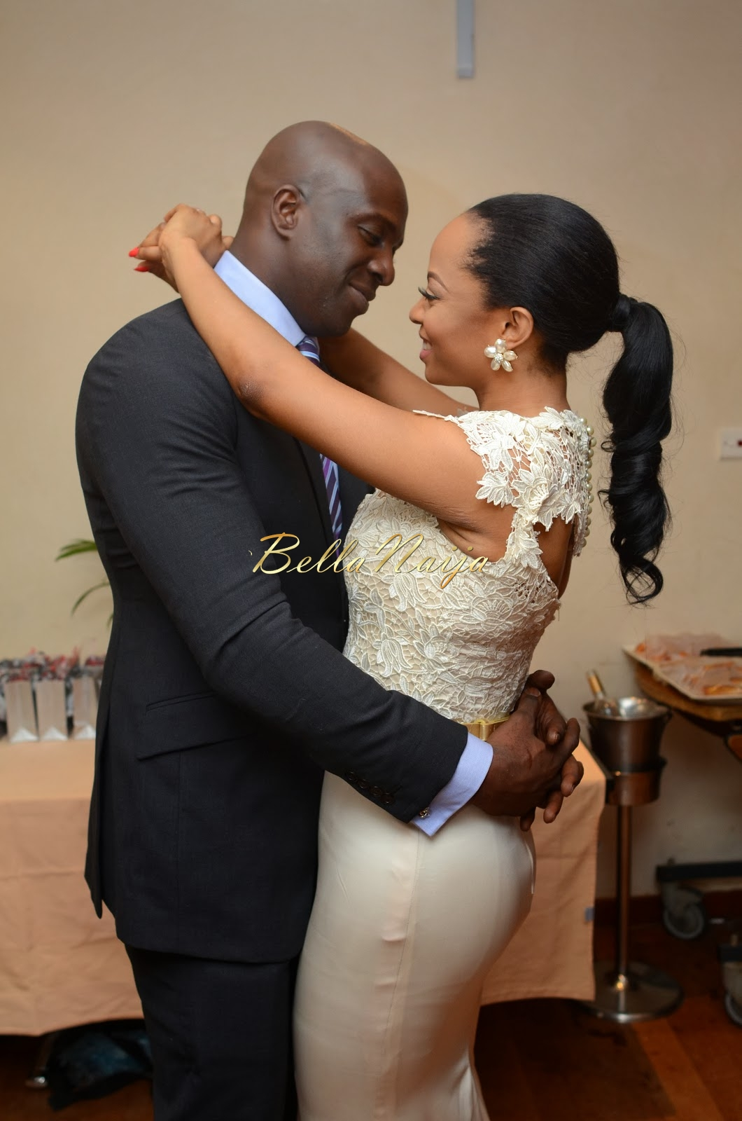 Toke Makinwa and Maje at their Wedding in January 2014