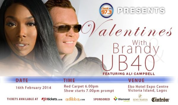 Classic FM presents Valentine's with Brandy & UB40