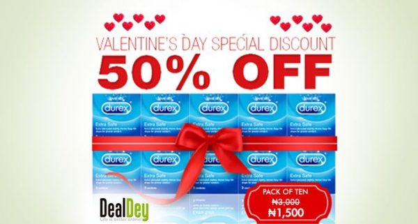 DealDey Valentine's Day Package with Durex - BellaNaija - February 2014
