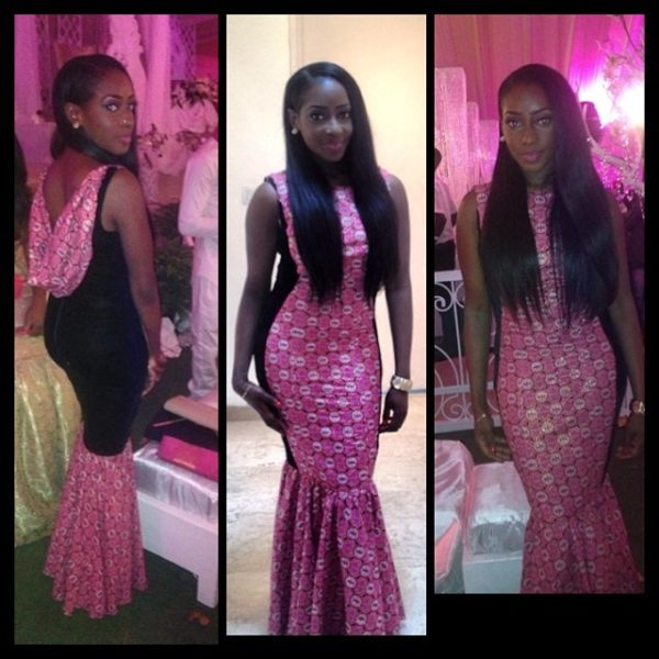Dorcas Shola Fapson at Tiwa Savage's wedding - Sophie on Shuga Naija.jpg