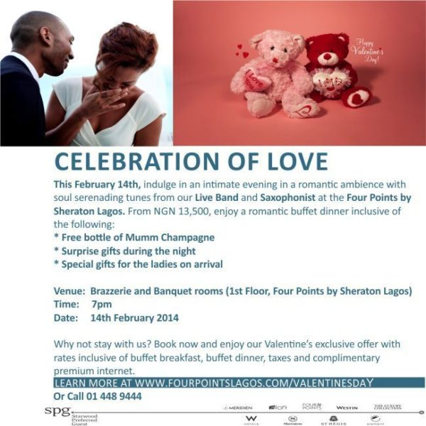Four Points by Sheraton Valentine's Package - BellaNaija - February 2014