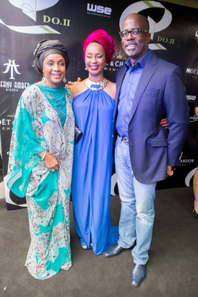 Ifeyinwa Ighodalo with Mr & Mrs Chidi Momah