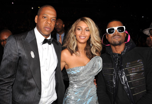 Jay Z, Beyonce & Kanye West - February 2014 - BellaNaija