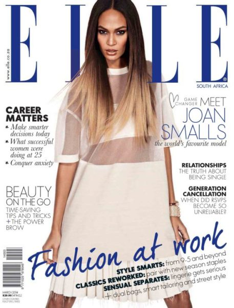 Joan Smalls for Elle South Africa March 2014 Issue - BellaNaija - February 2014