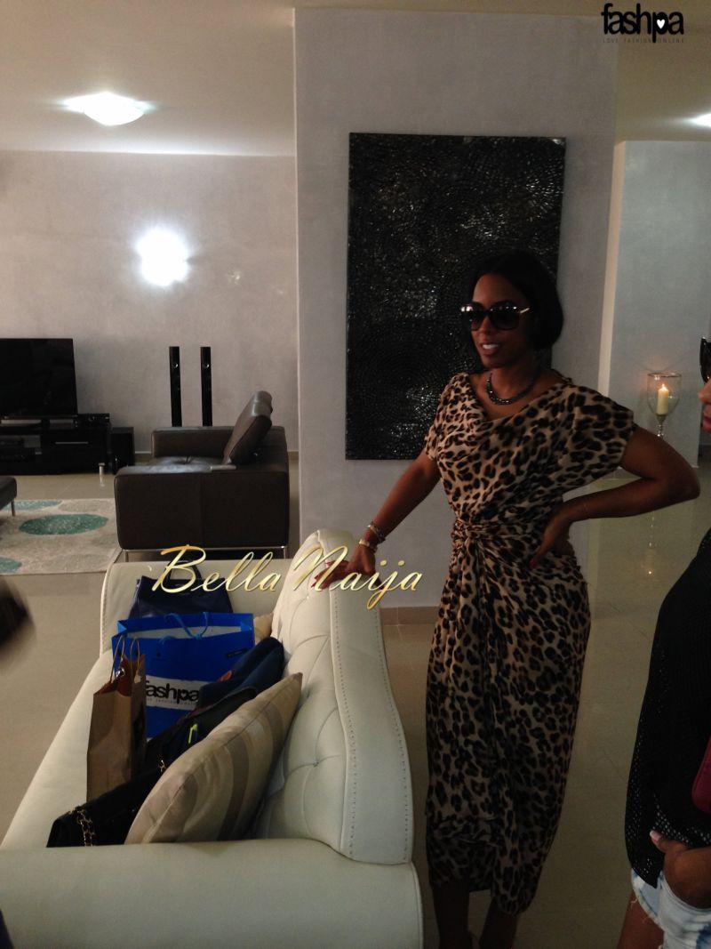 Kelly Rowland Rocks Oleku Leopard Print Twist Dress By