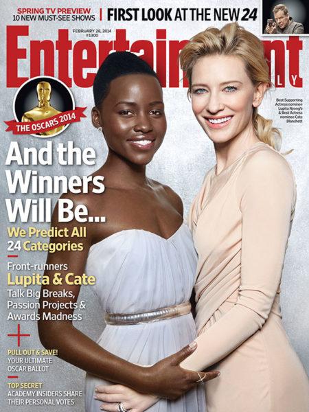 Lupita Nyong'o & Cate Blanchett - Entertainment Weekly - February 2014 - BellaNaija