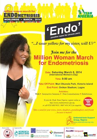 Million Woman March for Endometriosis - BellaNaija - February 2014