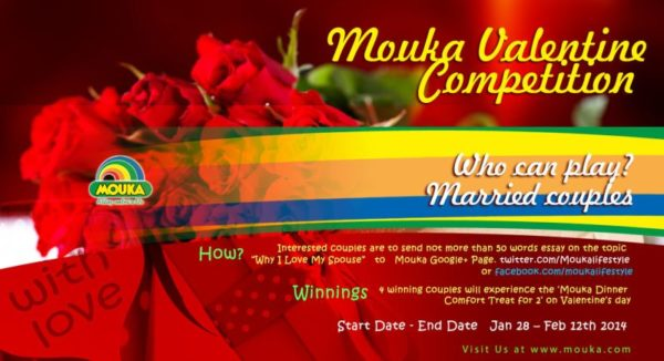 Mouka Valentine Compeition - BellaNaija - February 2014