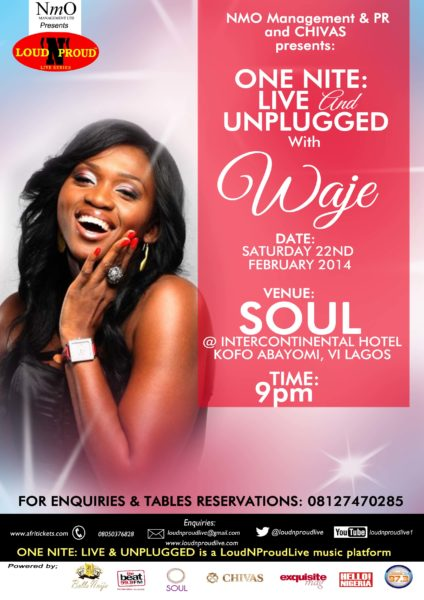 ONE NITE LIVE & UNPLUGGED with WAJE EFLYER Low res