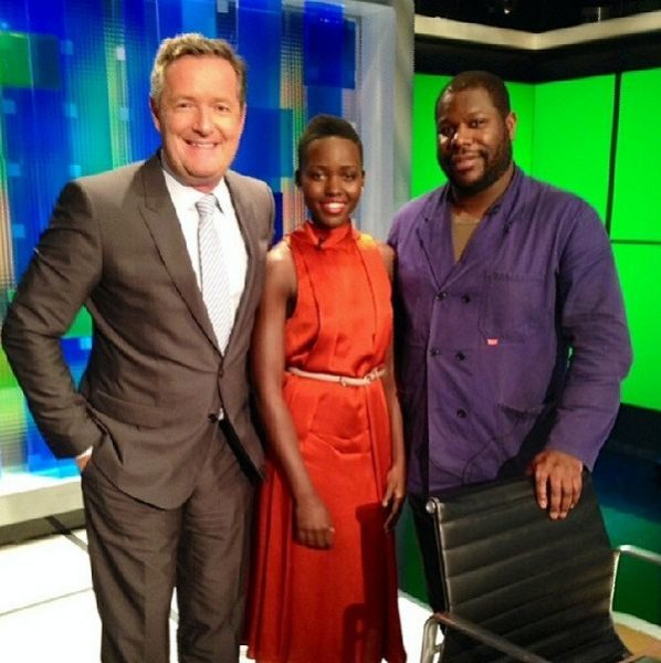 Piers Morgan, Lupita Nyong'o & Steve McQueen - Piers Morgan Live - February 2014 - BellaNaija
