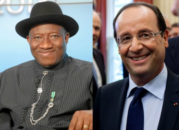 President Jonathan & Hollande - February 2014 - BellaNaija 01