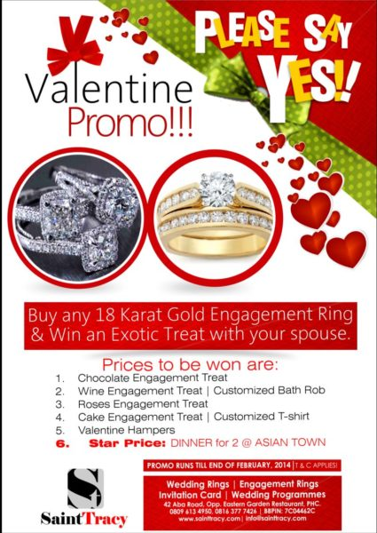 Saint Tracy Valentine's promo - BellaNaija - February 2014001