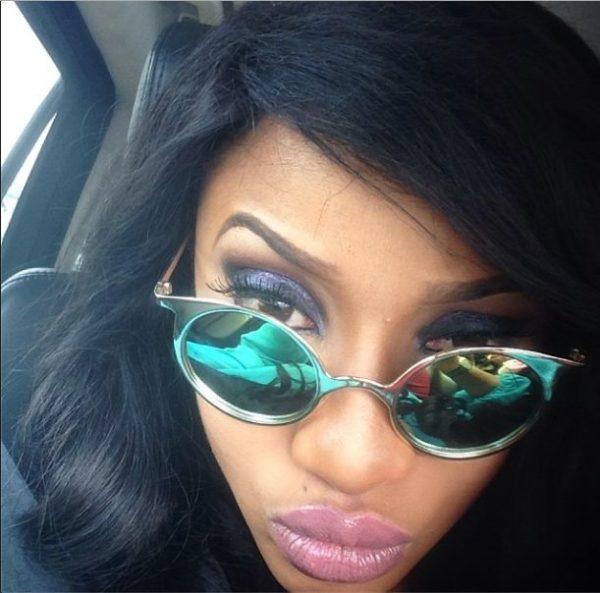 Tonto Dikeh Makeup Look - BellaNaija - February 2014003