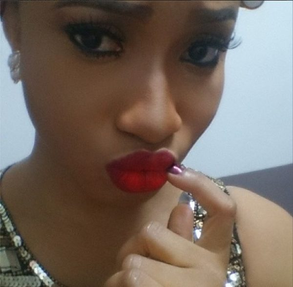 Tonto Dikeh Makeup Look - BellaNaija - February 2014005