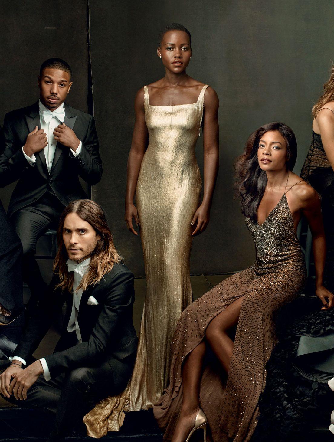 Lupita Nyong O Chiwetel Ejiofor Idris Elba George Clooney Julia Roberts On Vanity Fair Magazine S 2014 Hollywood Issue Cover Bellanaija