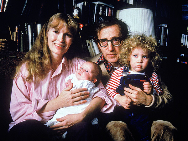 Mia Farrow  & Woody Allen with Ronan and adopted daughter Dylan