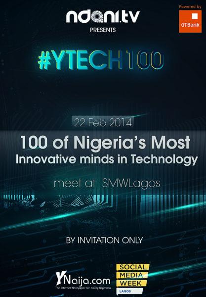 YTech100 - SocialMediaWeekLagos - NdaniTV -BellaNaija - February - 2014
