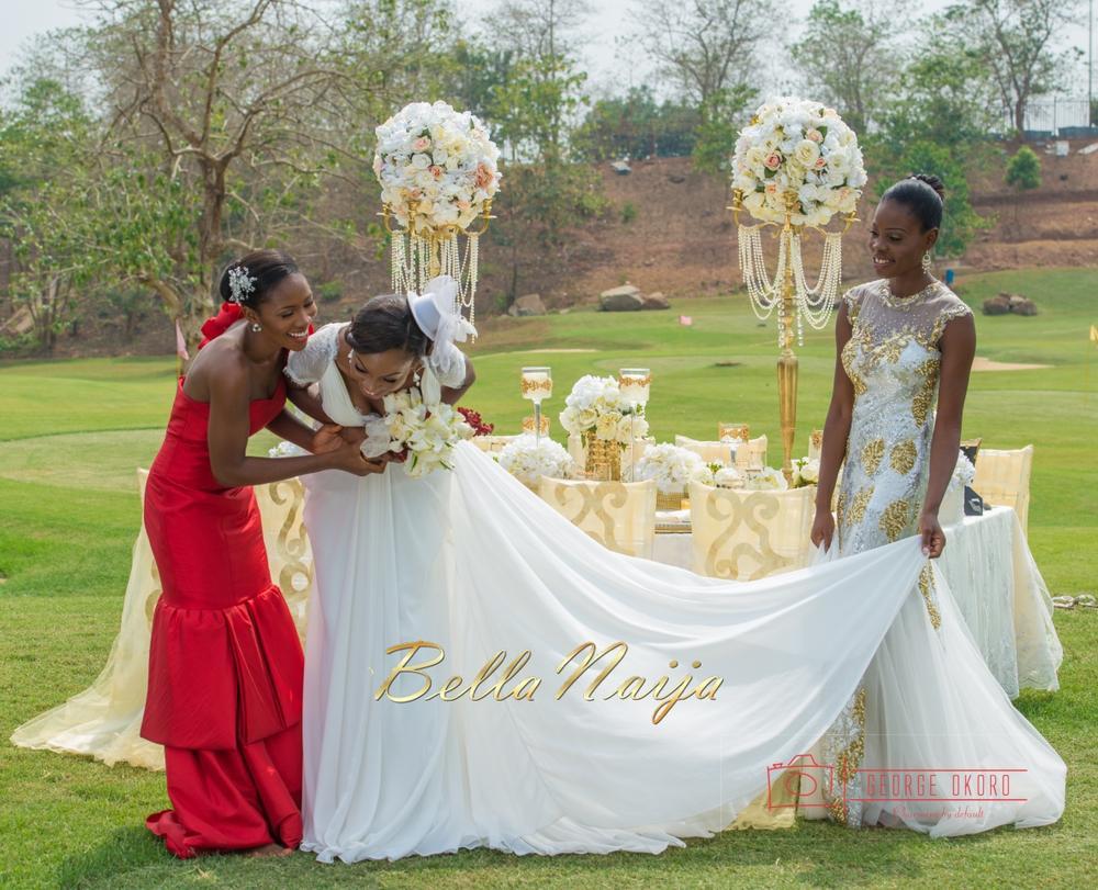 Spring Fever Styled Wedding Shoot In Abuja Blue Velvet Decor