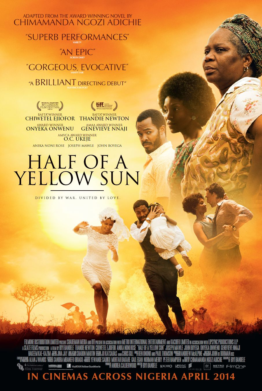 "Finally! ""Half of a Yellow Sun"" to Premiere in Lagos this April"