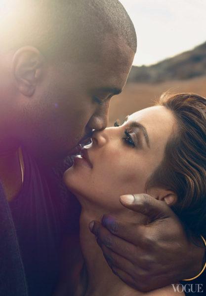 Kim Kardashian, Kanye West & North West - Vogue America - March 2014 - BellaNaija 02