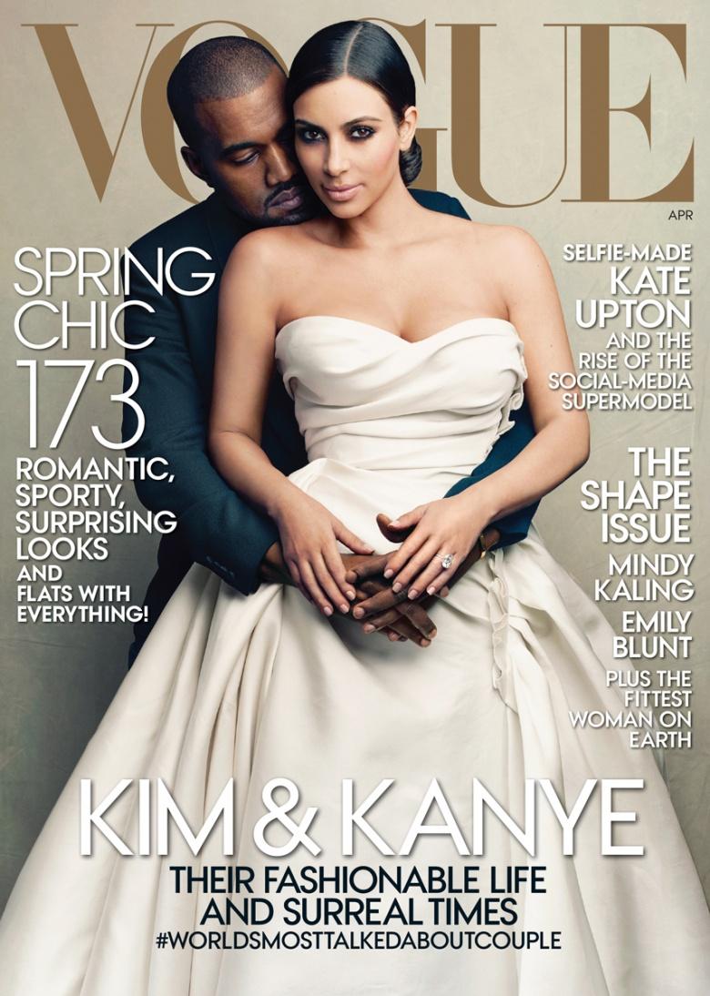 Kim Kardashian & Kanye West Cover VOGUE Magazine ... - YouTube