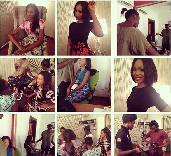 Lanre Da Silva Ajayi Colour Storm Behind the Scenes - BellaNaija - March 2014009
