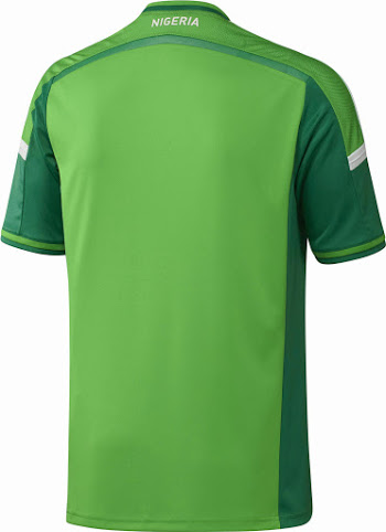Nigeria 2014 World Cup Home Kit Back - BellaNaija - March - 2014