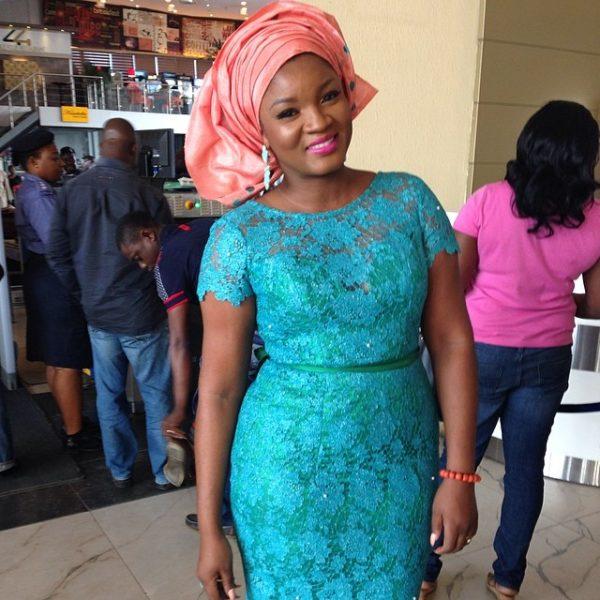 Omotola Jalade Ekeinde in Foradora Fabrics