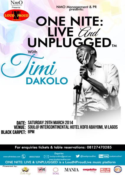One Nite Live & Unplugged With Timi Dakolo - BellaNaija - March  - 2014