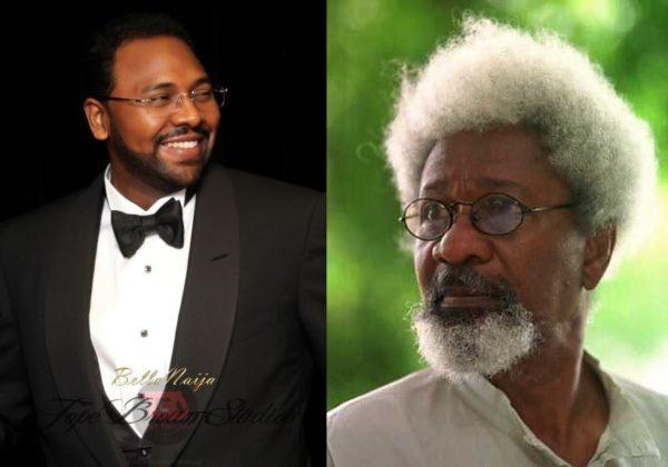 Sadiq Abacha & Wole Soyinka - March 2014 - BellaNaija