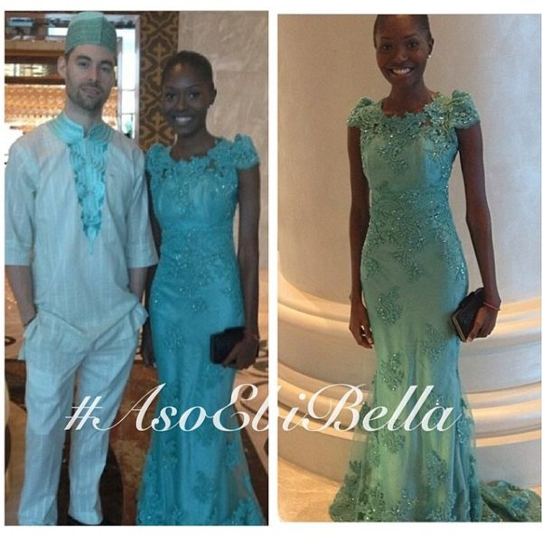 @mavekairy in dress by @falkebyaisha