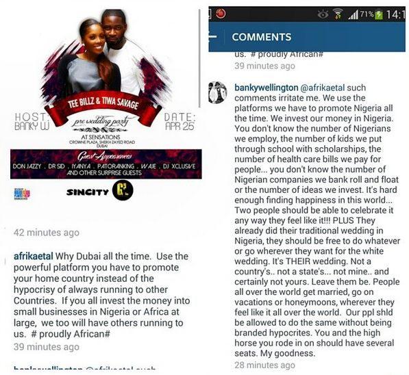 Banky W Replies Critic - April 2014 - BellaNaija.com