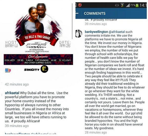 Banky W Replies Critic - April 2014 - BellaNaija.com