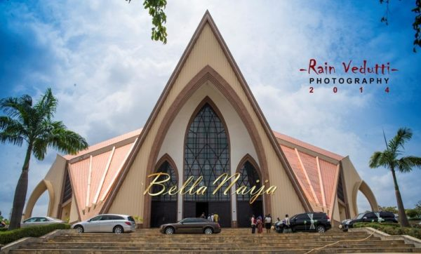 Ese Walter & Benny Ark's White Wedding in Abuja | BellaNaija -Church venue-Ecumenical center Abuja
