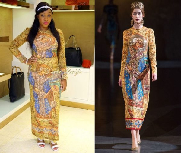 Jennifer Obayuwana in Dolce & Gabbana - Polo Avenue's Gucci & Dolce & Gabbana Preview in Lagos - BellaNaija Style - BellaNaija.com