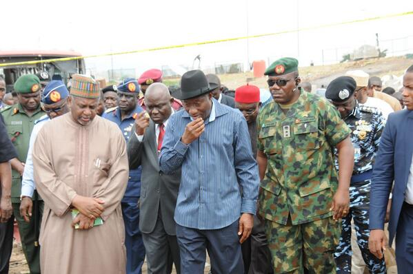 Jonathan Visits Nyanya Bombing Scene & Victims at Hospital - April - BellaNaija.com 01