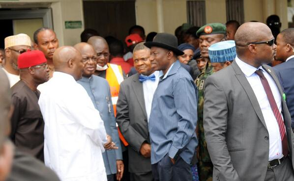 Jonathan Visits Nyanya Bombing Scene & Victims at Hospital - April - BellaNaija.com 05