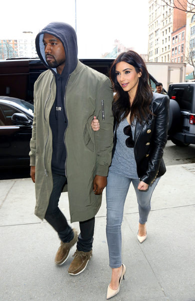 Kanye & Kim Kardashian - April 2014 - BellaNaija.com