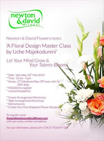 Newton & David Floral Design Master Class - BellaNaija - April 2014