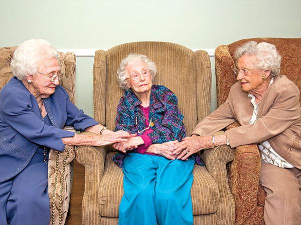 Over 100 year old sisters Bella Naija