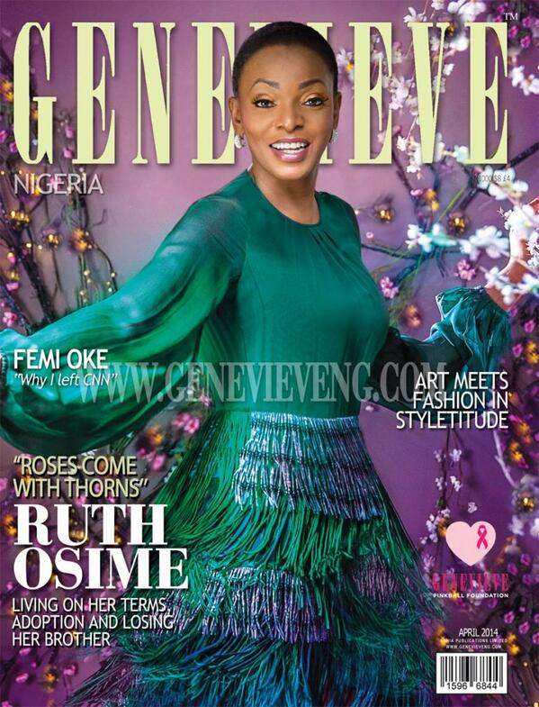 Ruth Osime Genevieve Magazine April 2014