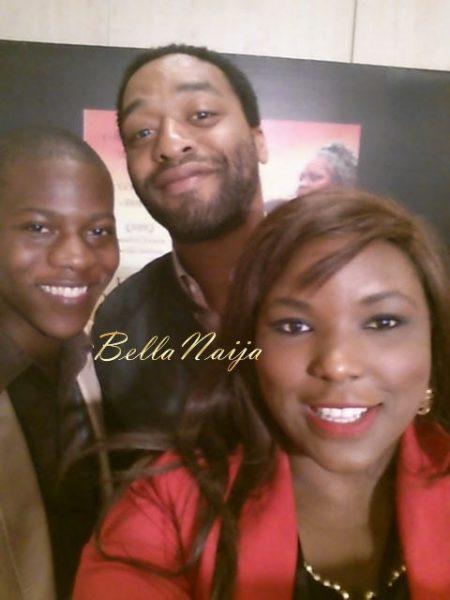 Selfie with Chiwetel Ejiofor - April 2014 - BellaNaija 01