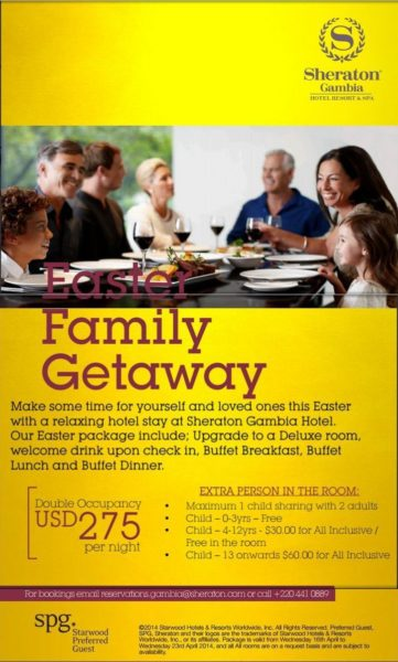 Sheraton Gambia Easter Fmily Getaway Offer - BellaNaija - April 2014001