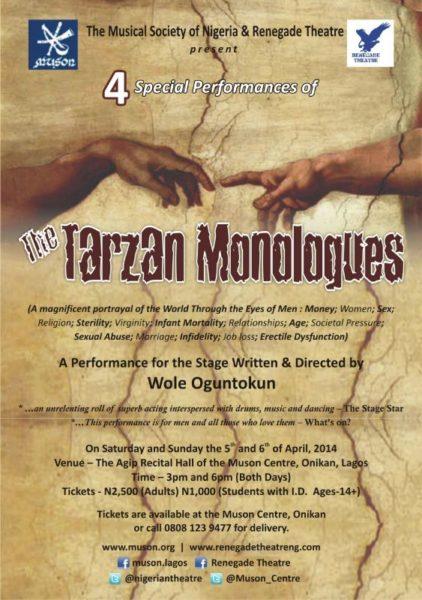 The Tarzan Monologues - BellaNaija - April - 2014